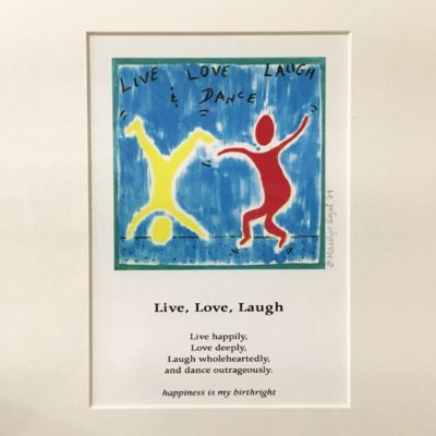 Art Print – Live, Love, Laugh